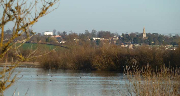 View of Wollaston from Summer Leys